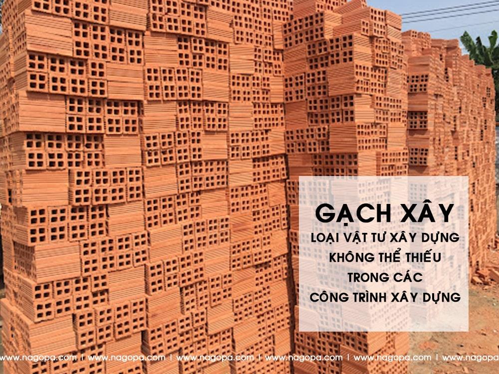 gạch xây vật tư xây dựng dùng để xây nhà