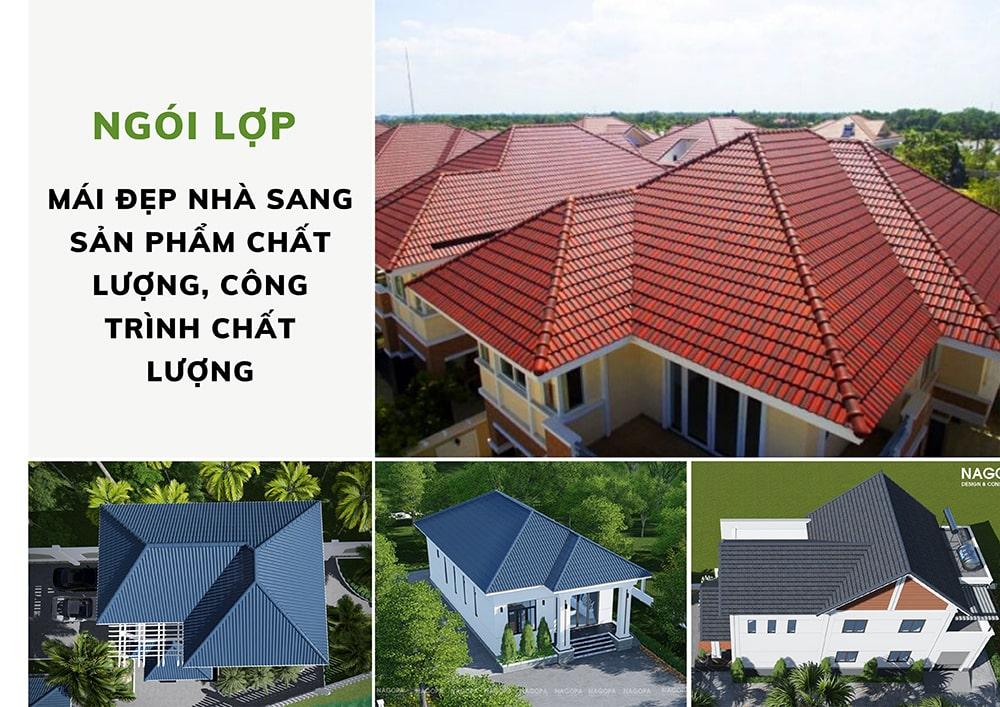hình ảnh mái ngói trong các công trình nhà ở