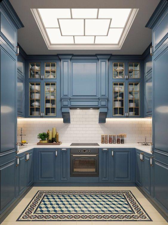 không gian bếp mang phong cách tân cổ điển