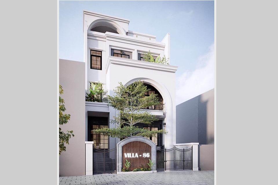 mẫu nhà phố tân cổ điển thiết kế 5 tầng 1