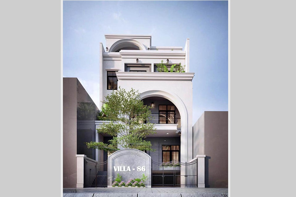 mẫu nhà phố tân cổ điển thiết kế 5 tầng 2