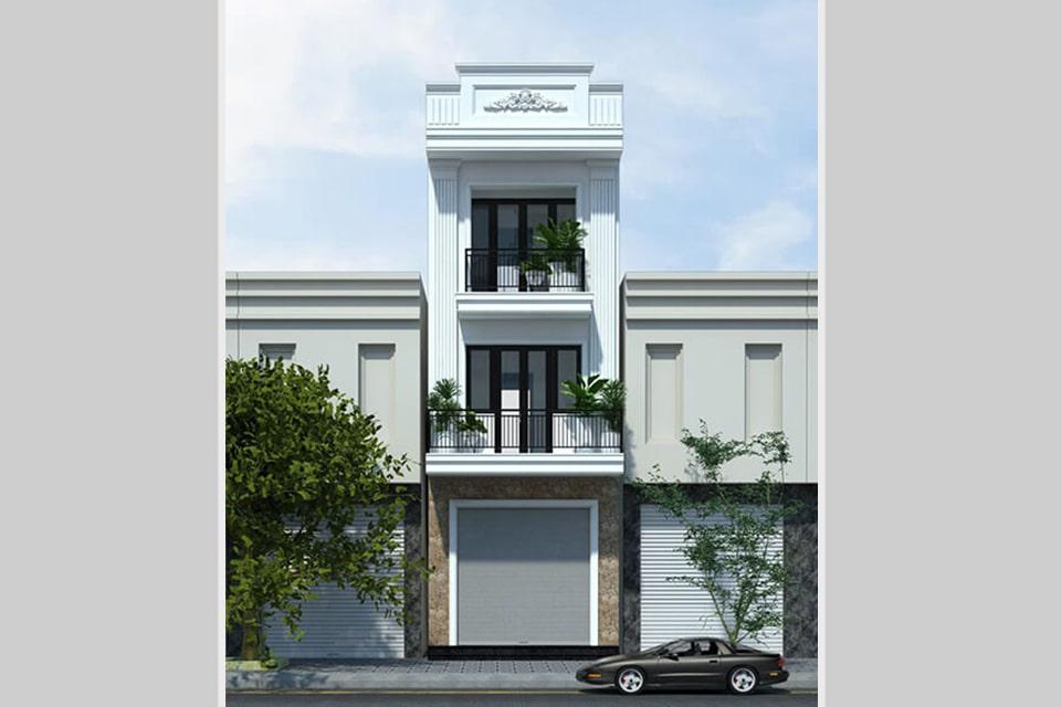 mẫu nhà phố tân cổ điển thiết kế 3 tầng 3