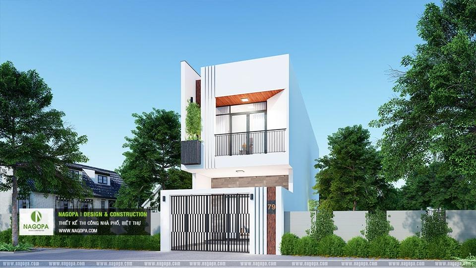 Nhà 1 trệt 1 lầu mái bằng đổ bê tông 2