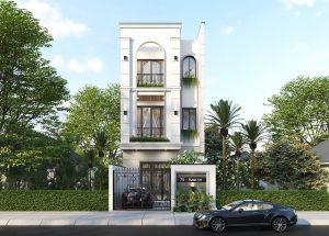 nhà phố mang phong cách kiến trúc tân cổ điển 1