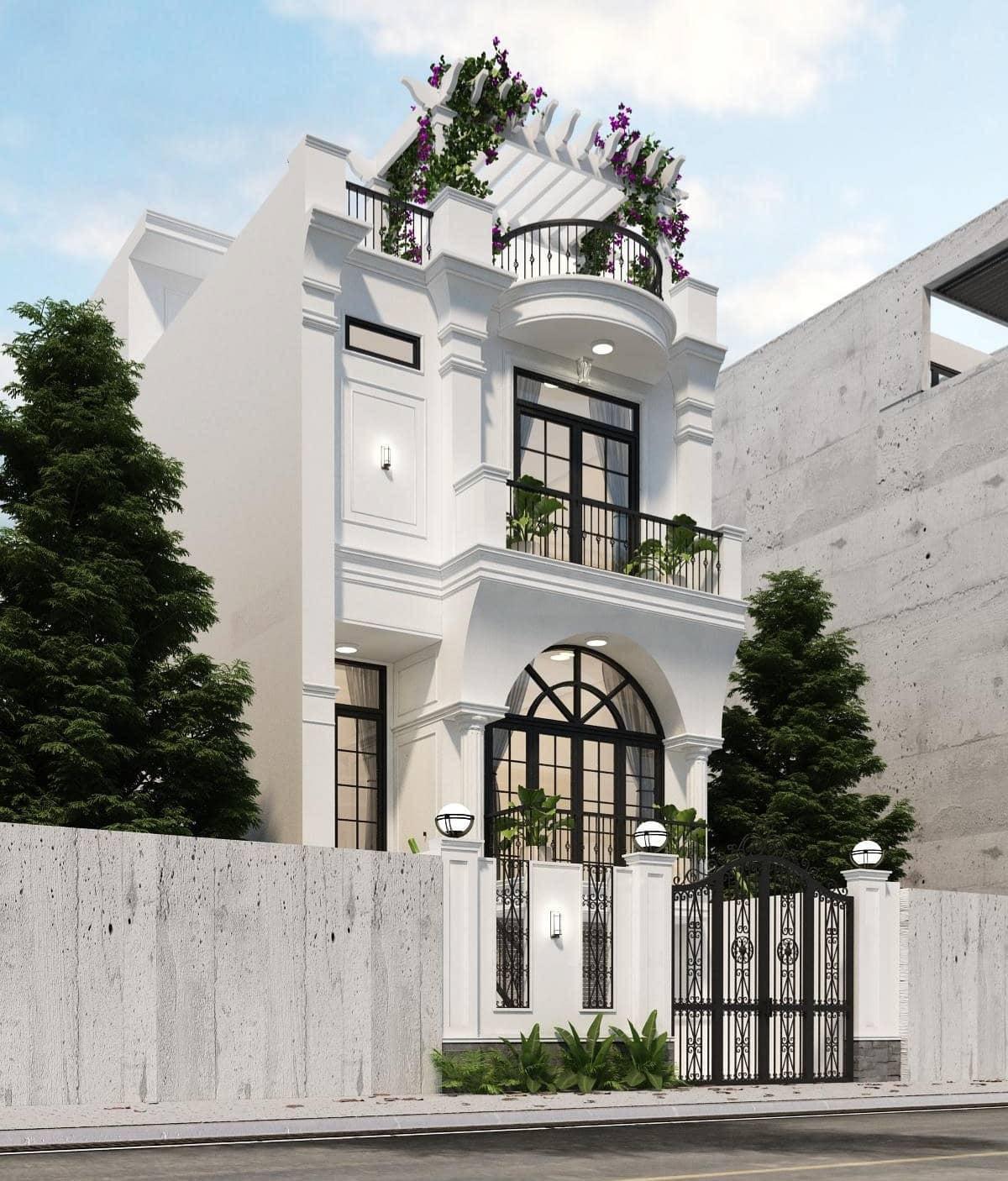 nhà phố mang phong cách kiến trúc tân cổ điển