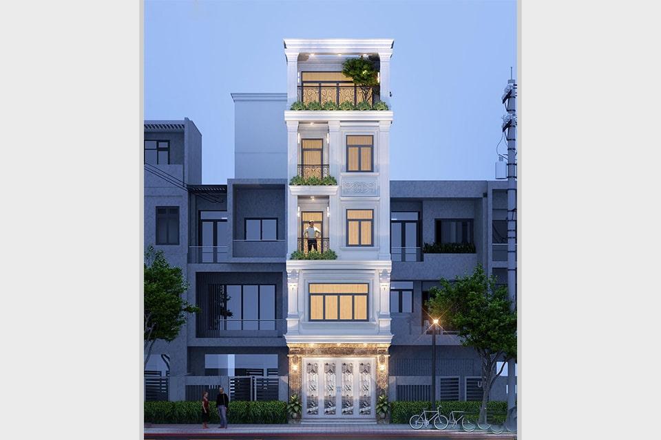 nhà phố tân cổ điển 5 tầng mặt tiền 5m