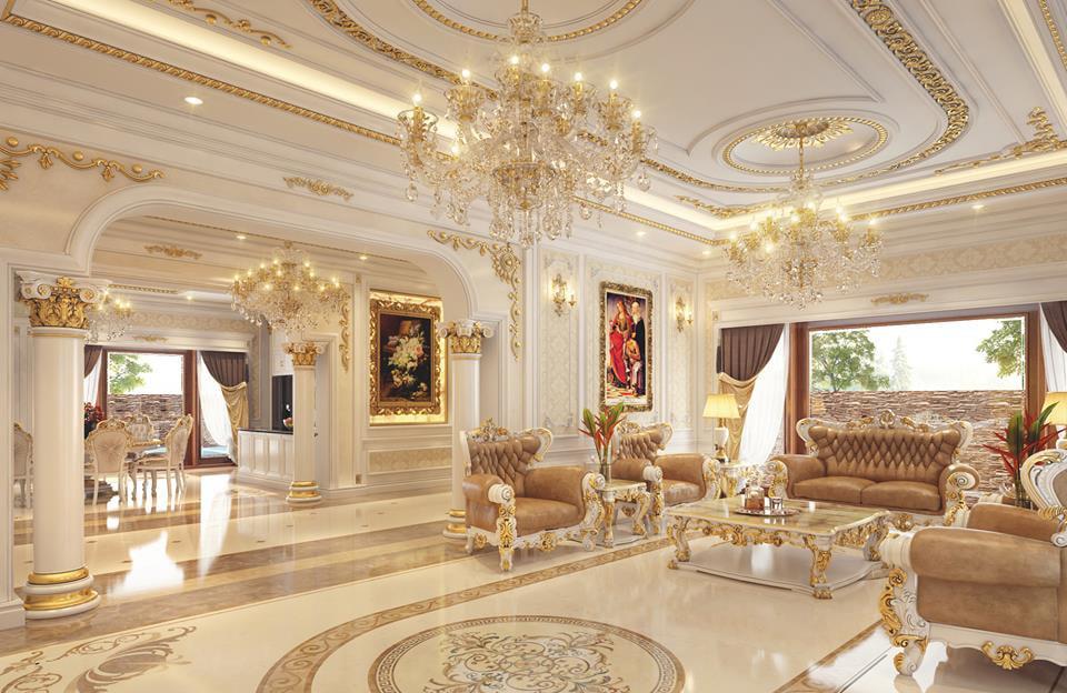 phòng khách mang phong cách cổ điển 1