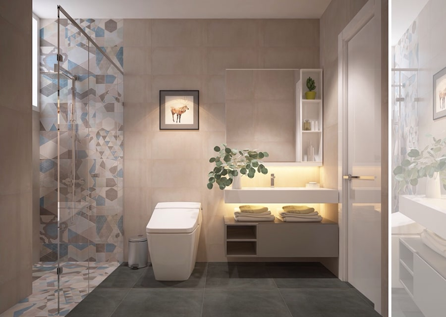 phòng tắm mang phong cách hiện đại 6