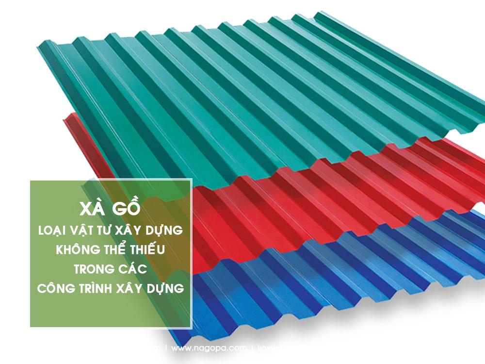 tôn lợp mái vật tư xây dựng dùng để xây nhà